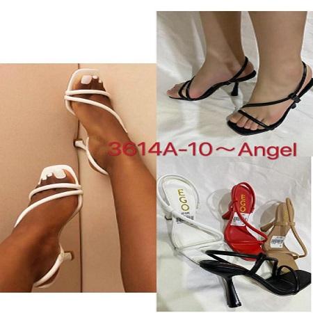 sandales compensée blanc,noir