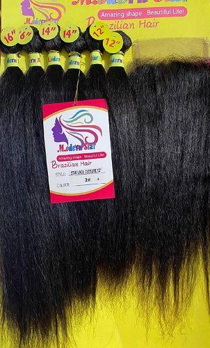 Brazilian Hair Mèche Naturel Lisse 6 Boules – Noir