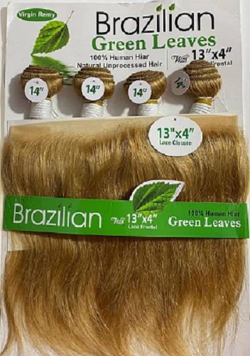 Mèche Naturelle 1 Paquets BRAZILIAN + Closure Frontale